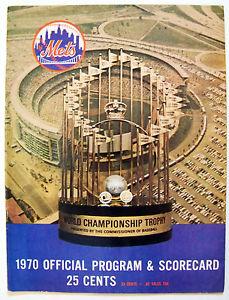 1970 Mets scorecard